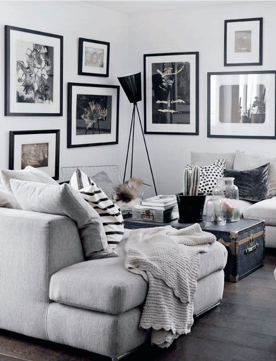Monochrome Home With A Charming Eclectic Style