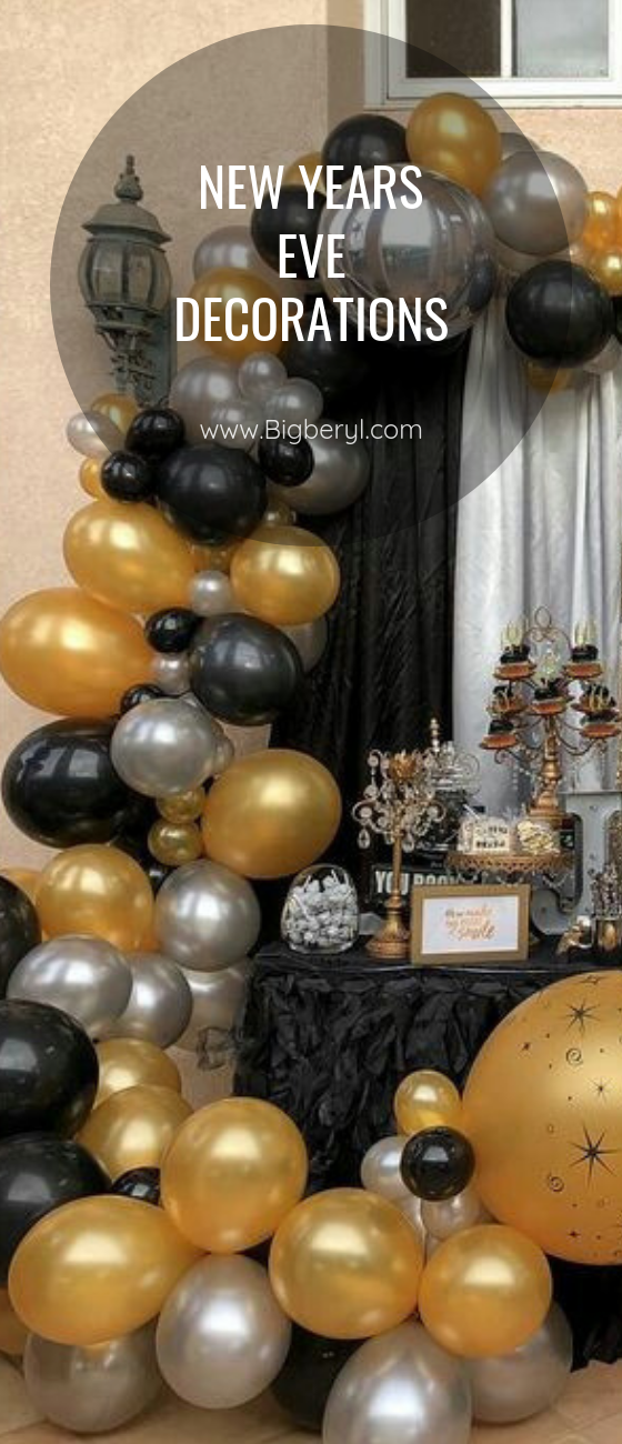 Black And Gold Balloons Decorations 30 Pcs Set Black And Gold Balloons Gold Balloons Decorations New Years Eve Decorations