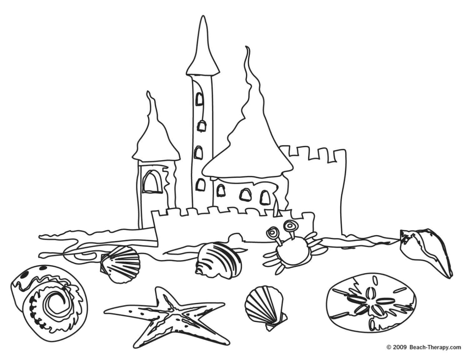 Summer Beach Coloring Page My Style Coloring Pages Beach