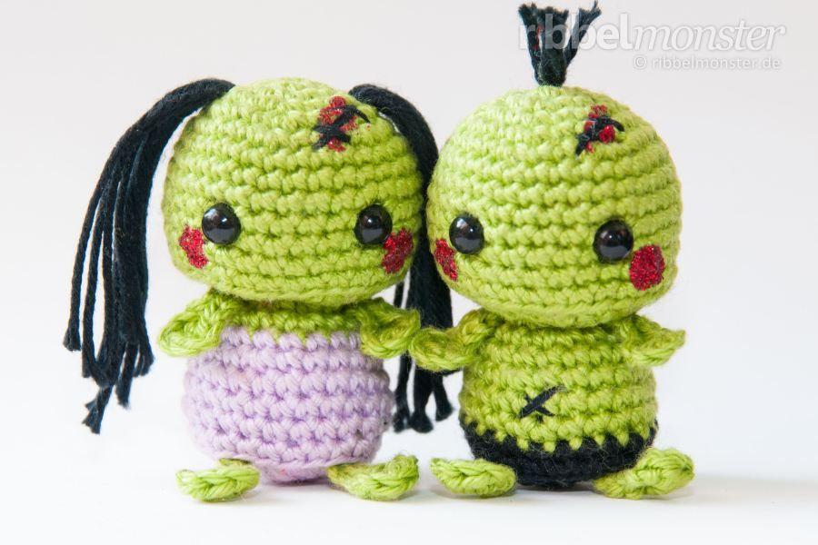 Amigurumi Minimee Zombies Häkeln Kostenlose Häkelanleitung