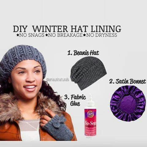 Making a hair protector lining for those winter hats  8bb1fcc895c