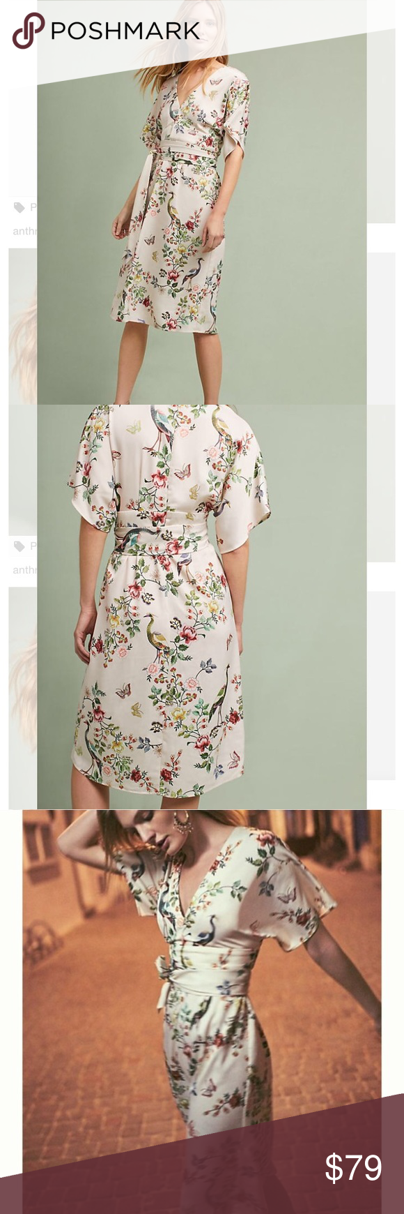 d3e31b9ce318b Anthropologie dRA avian kimono midi dress NWT size 4 Anthropologie Dresses  Midi