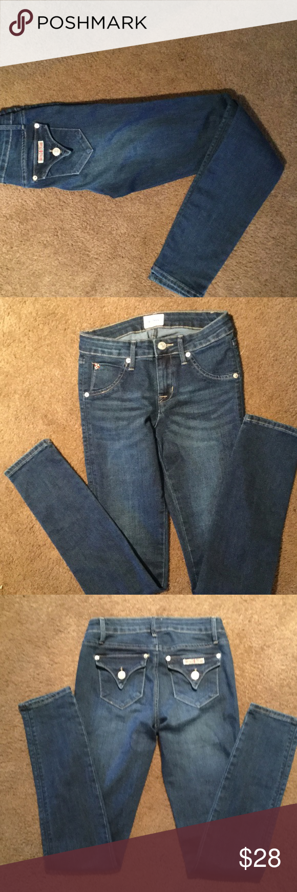 Hudson jeans Excellent condition! Hudson skinny jeans, price is firm. Hudson Jeans Bottoms Jeans