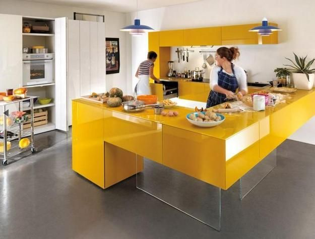 modern kitchen colors. Yellow Kitchen Colors Offer Great Decorating Ideas That Brighten Up Modern Design And Bring Happy R