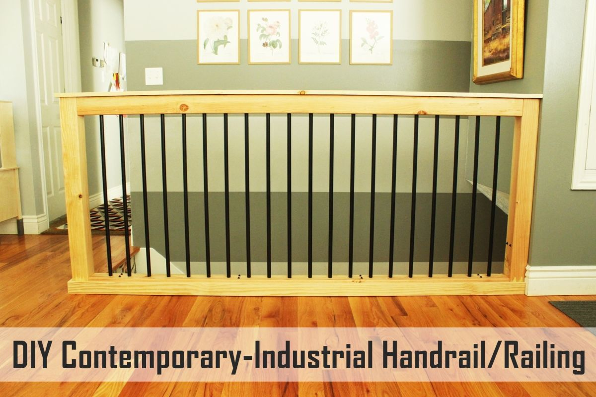 Best Diy Stair Handrail With Industrial Pipes And Wood Diy 400 x 300