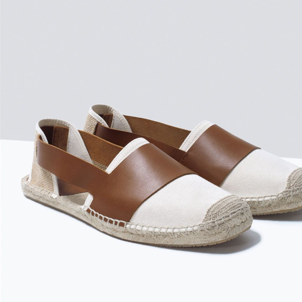 7ca4c33d ZARA - MAN - COMBINED LEATHER ESPADRILLES   What I wear   Leather ...