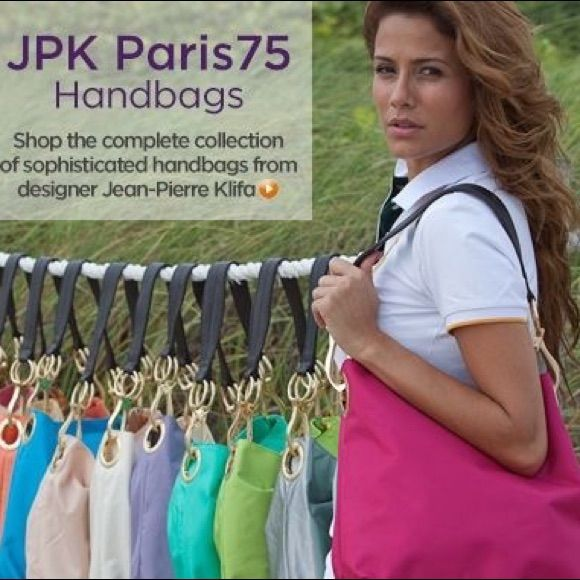 Jpk Paris 75 Purse Pink Nylon Bucket Hand Bag