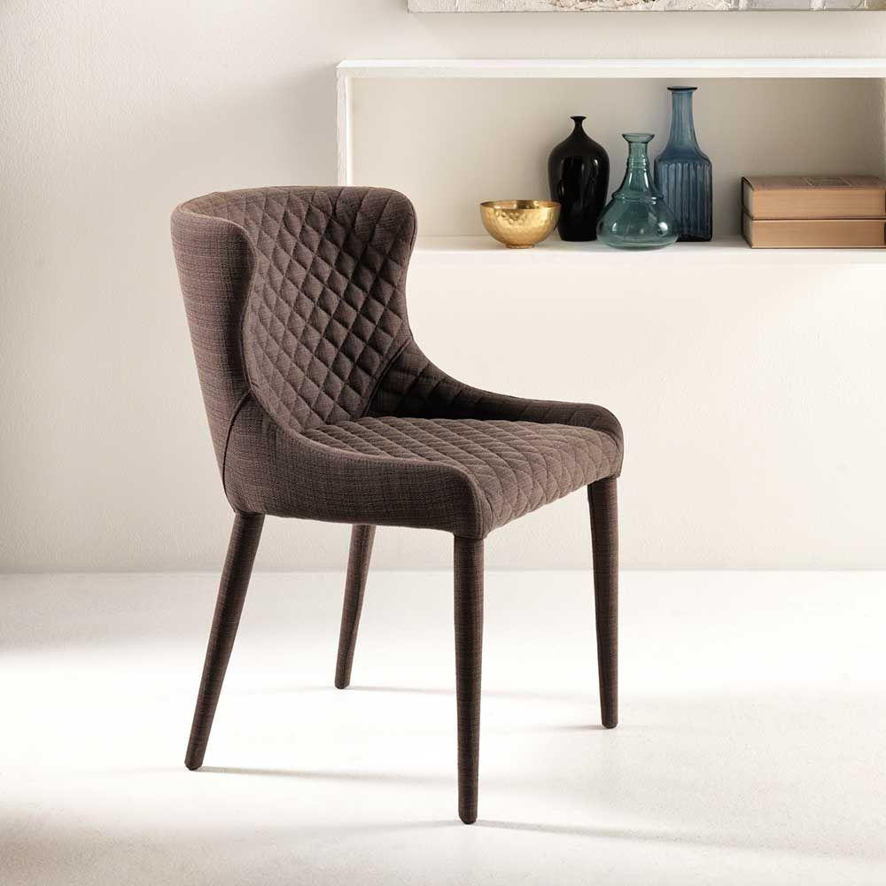 esszimmerstuhl in braun stoff gesteppt jetzt bestellen unter. Black Bedroom Furniture Sets. Home Design Ideas