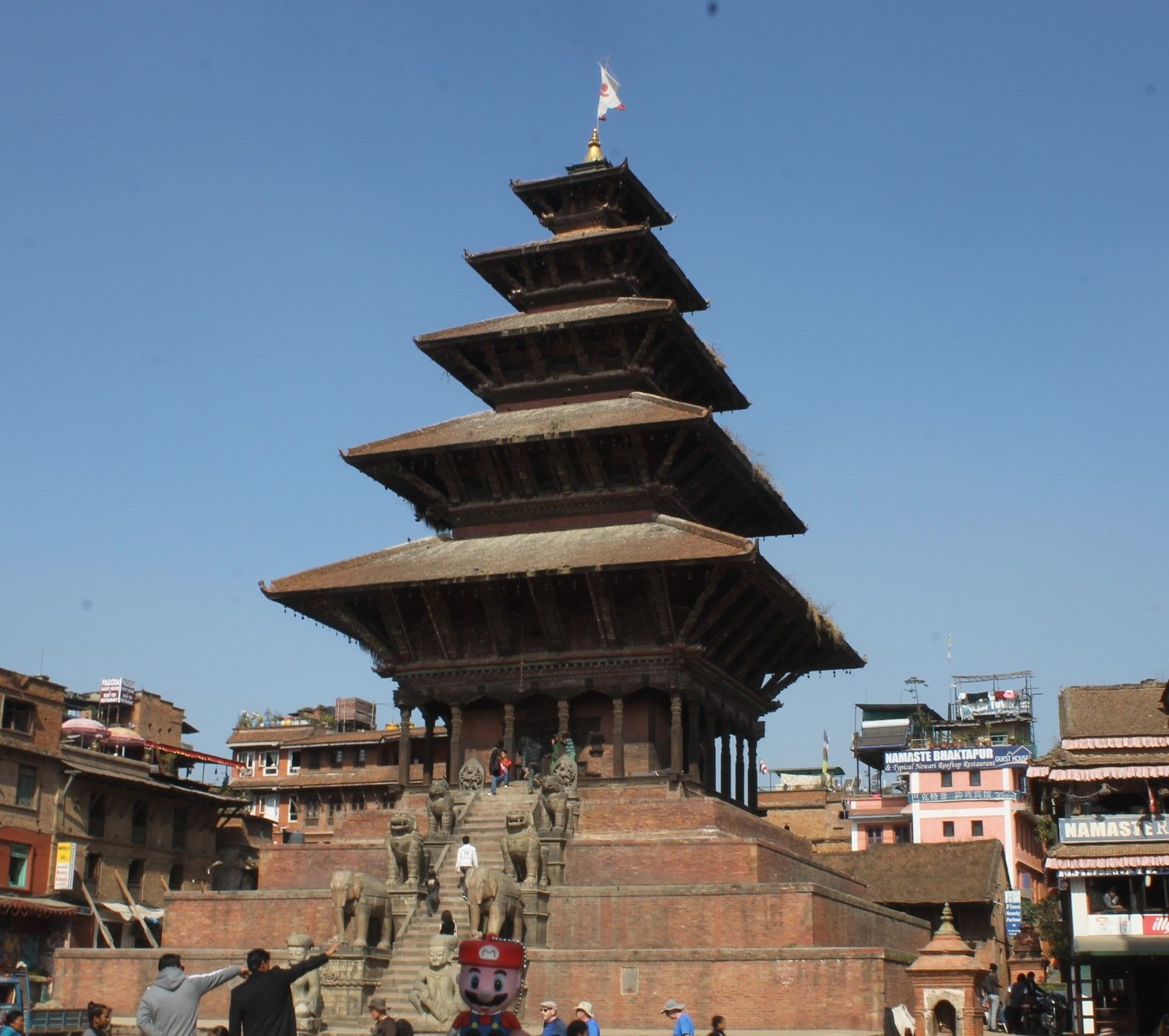 La plaza Taumadhi de Bhaktapur