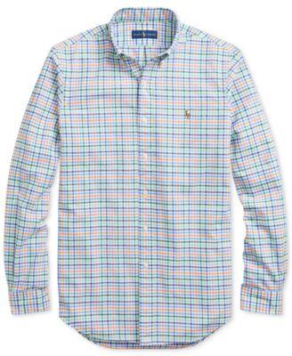 a2b905eb7 Polo Ralph Lauren Men s Slim-Fit Stretch Oxford Shirt - Spring Green Orange  XL