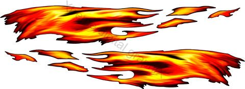 Flame Decals For Trailer Fire Flames Auto Decals Truck Flame - Flame stikers for car