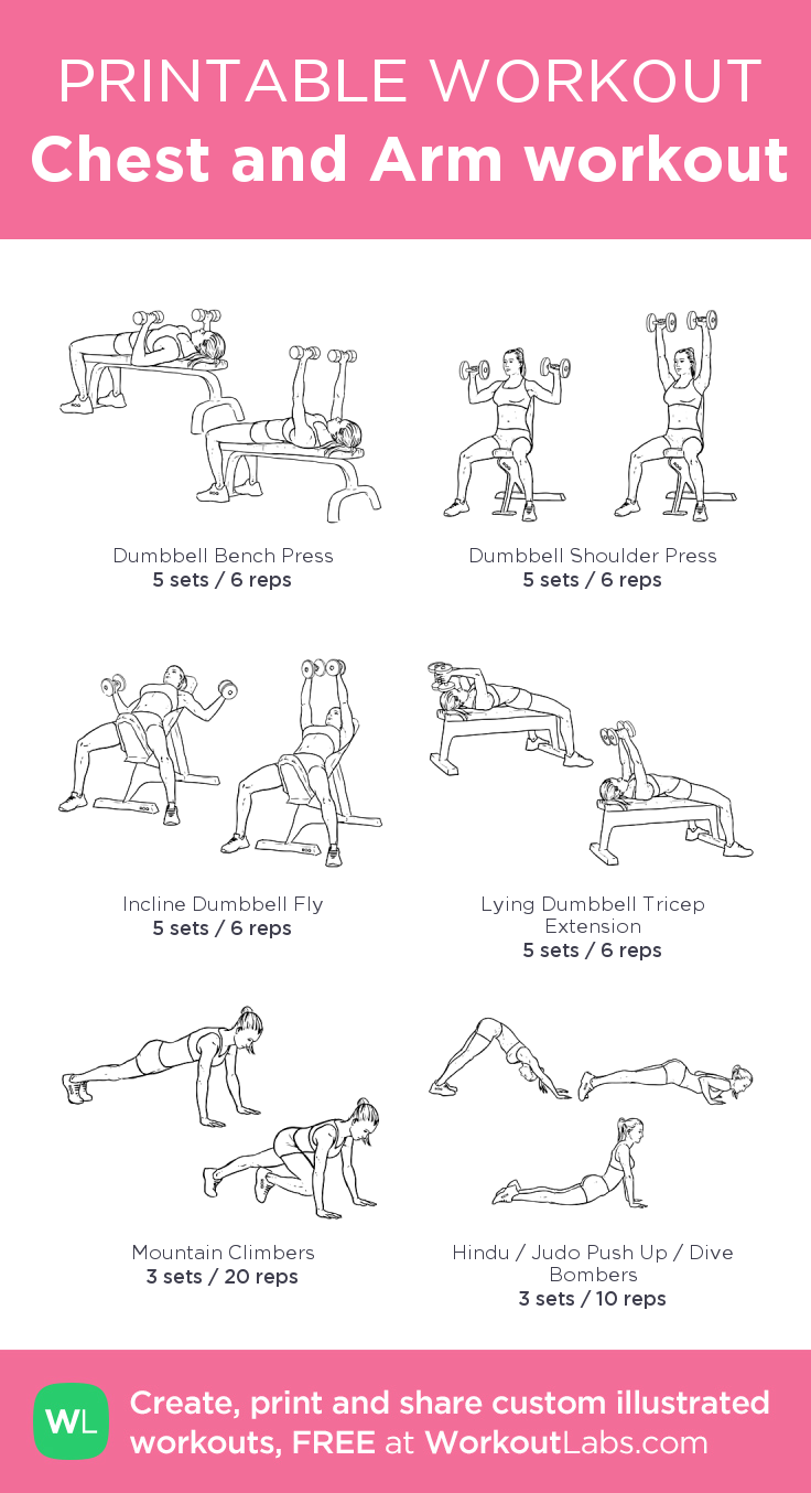 picture regarding Printable Arm Workouts identified as Upper body and Arm exercise session: my personalized printable exercise as a result of