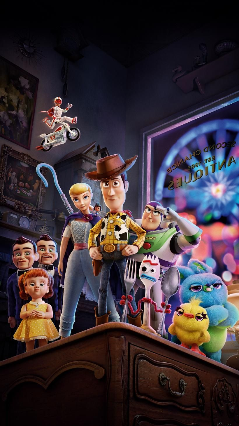 Toy Story 4 (2019) Phone Wallpaper Fondos de pantalla de
