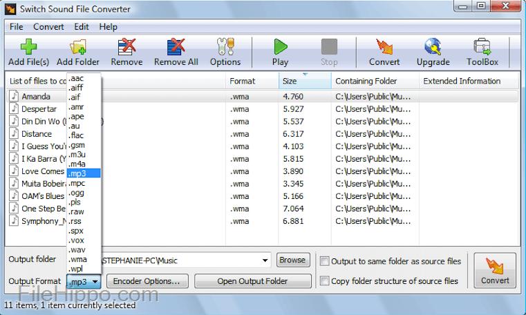 Switch Audio File Converter 6 03 Beta Switch Audio File