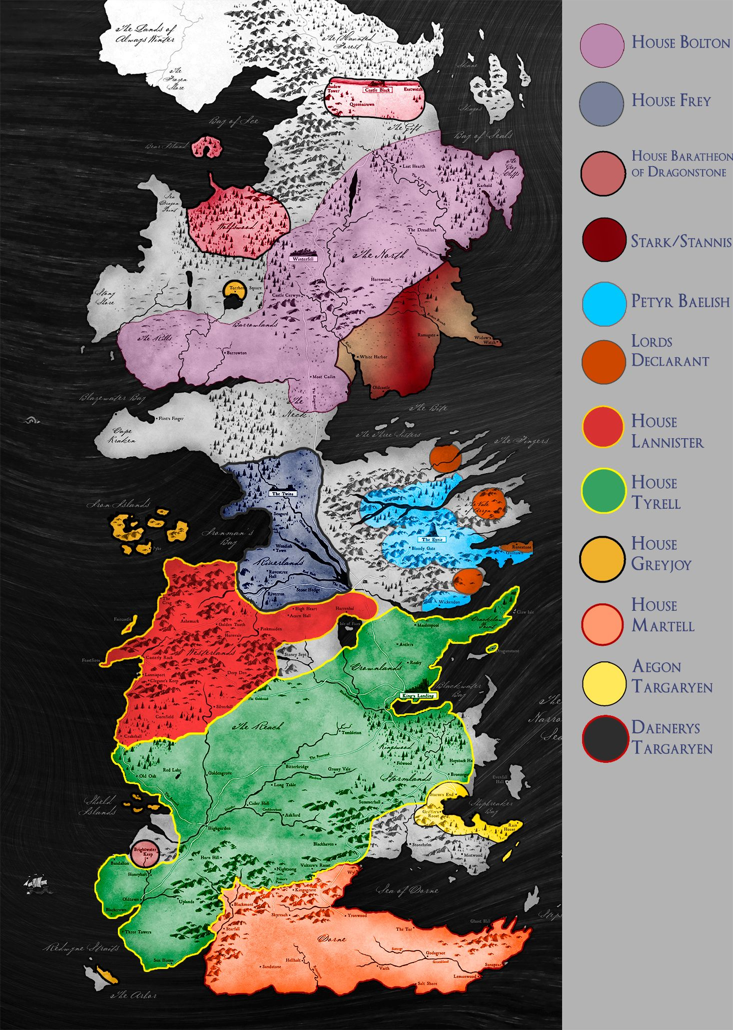 SPOILERS Latest map of Westeros GoT