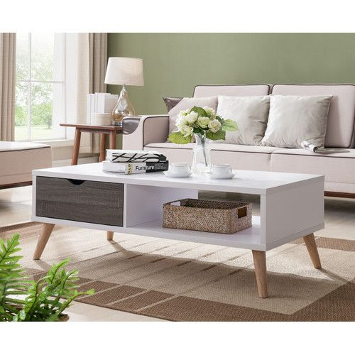 Found It At Allmodern Brigman Contemporary Coffee Table With Images Coffee Table White White Coffee Table Modern Contemporary Coffee Table