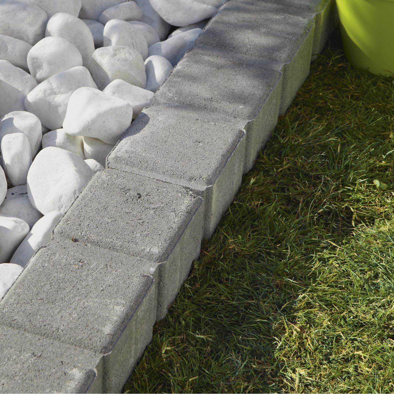 Bordure droite Pavé Seine droite grise pierre reconstituée gris H 11 ...