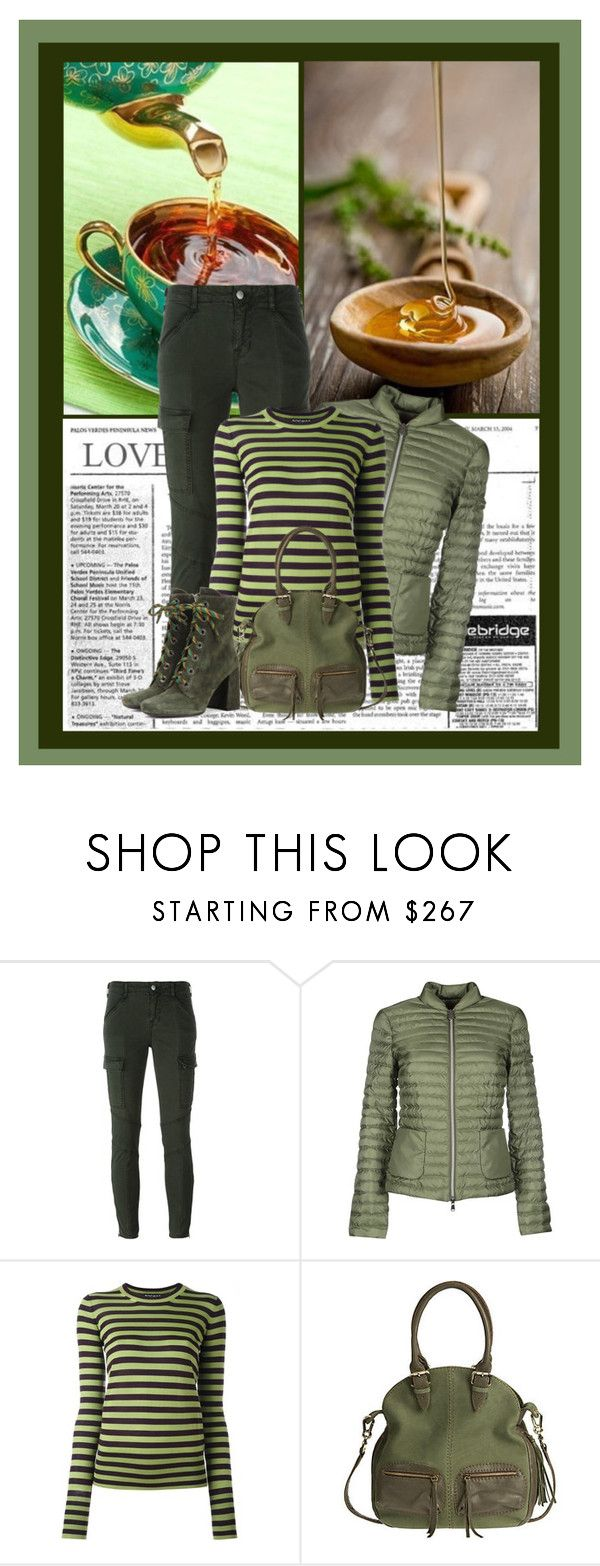 """""""All green"""" by noconfessions ❤ liked on Polyvore featuring J Brand, Peuterey, Rochas, Overland Sheepskin Co. and Prada"""