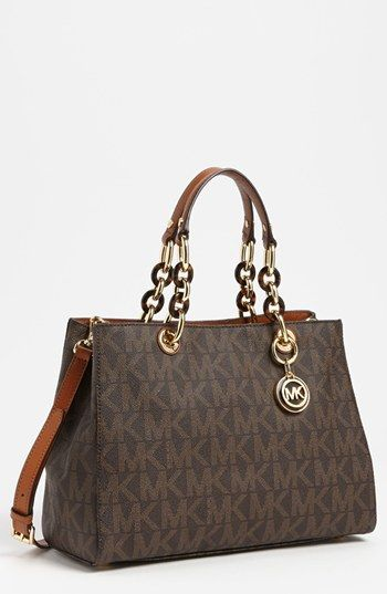 eefac5ad1001c1 MICHAEL Michael Kors 'Cynthia - Medium' Satchel available at #Nordstrom