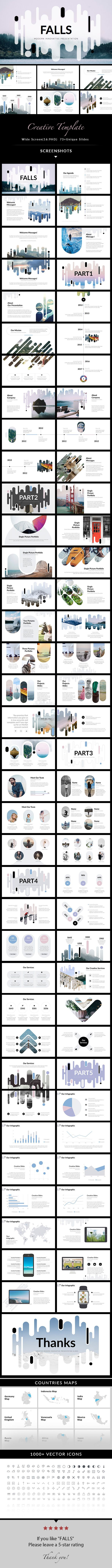 Falls creative powerpoint template diagramao falls creative powerpoint template toneelgroepblik Images