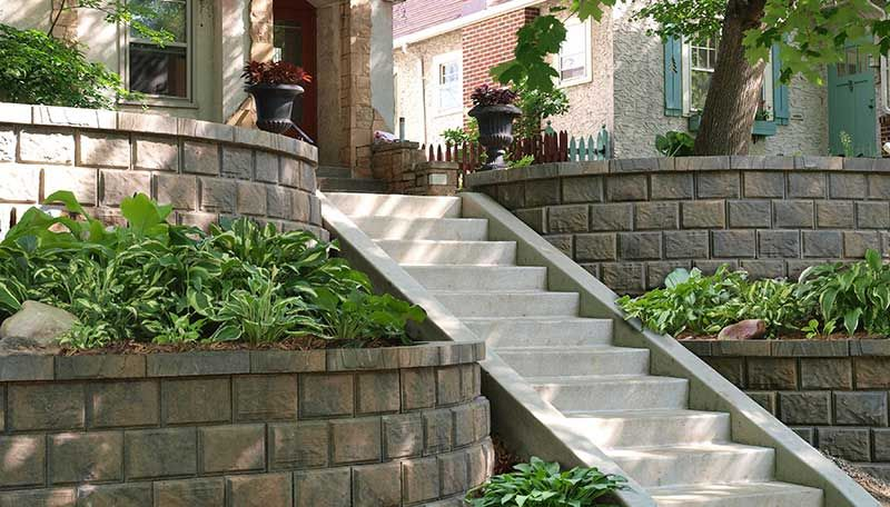 Photo Gallery Sloping Yards Landscaping On A Hill Sloped Front Yard Landscaping Retaining Walls