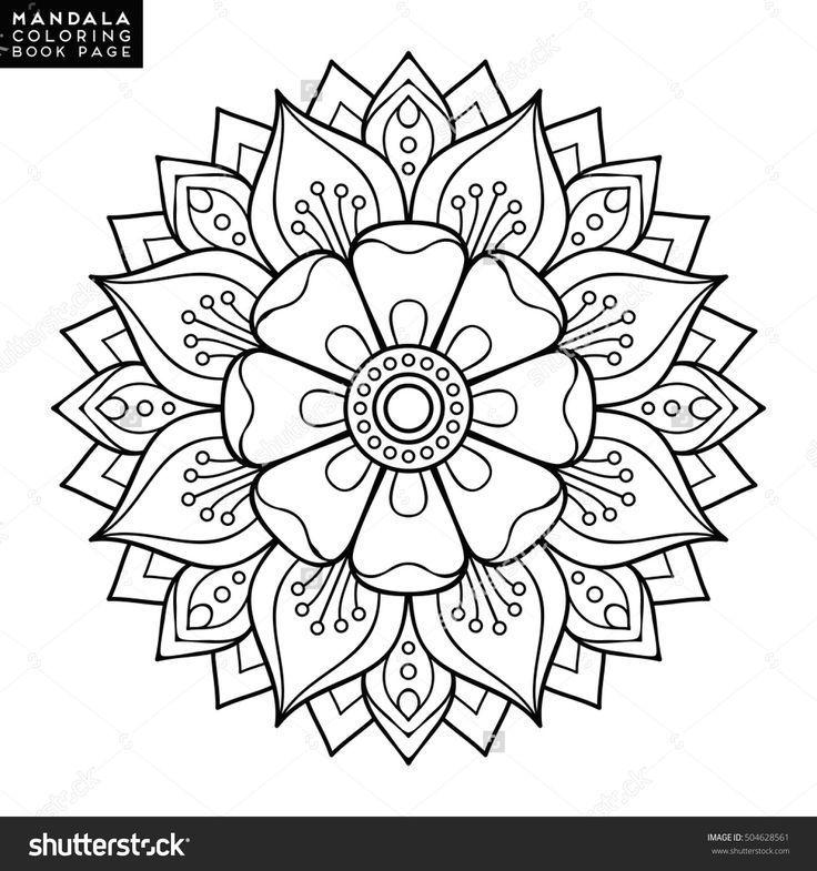 Blumen Mandala Vintage Dekorative Elemente Orientalisches Muster Vektor Illustration Ausmalbilder Mandala Malvorlagen Ausmalbilder Mandala Ausmalen
