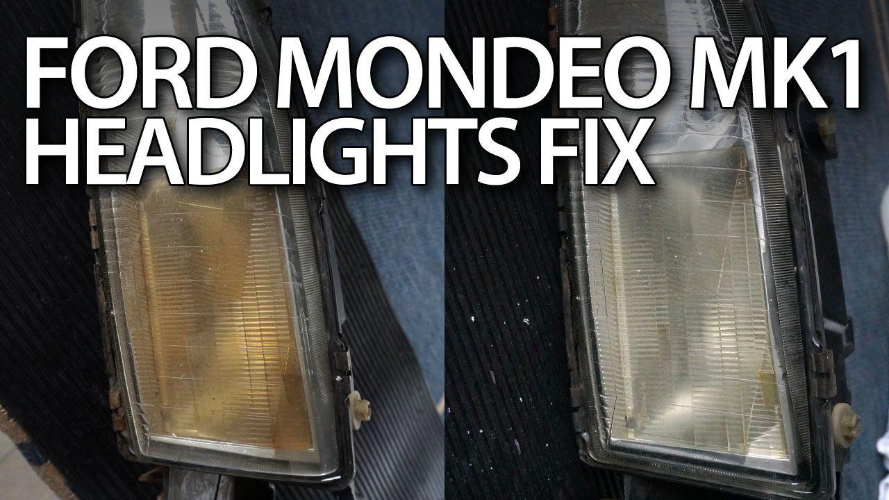 How to #restore #Ford #Mondeo MK1 yellowish #headlights #fix #cars  #maintenance