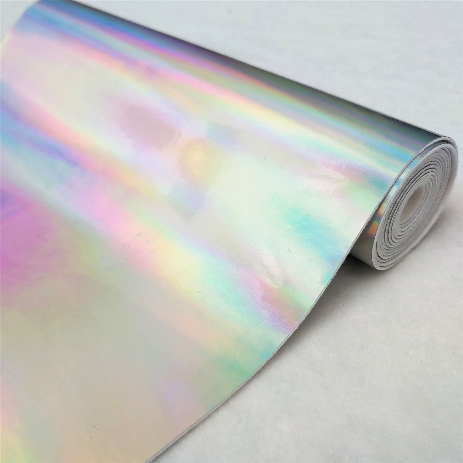 Metallic Iridescent Leather Fabric Holographic Upholstery Decor Sew Bags Bows