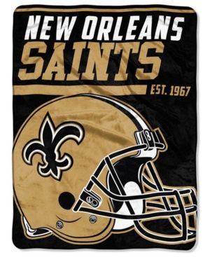 438ee0be543 Northwest Company New Orleans Saints Micro Raschel 40 Yard Dash Blanket -  Gold