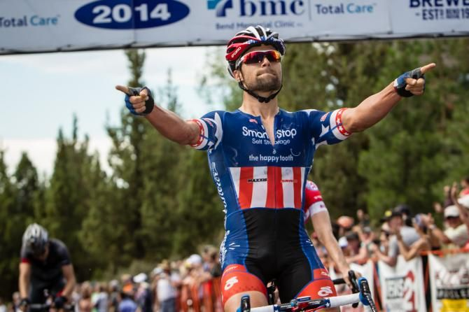 Eric Marcotte (Smartstop) takes the Awbrey Butte stage win (Oregon).