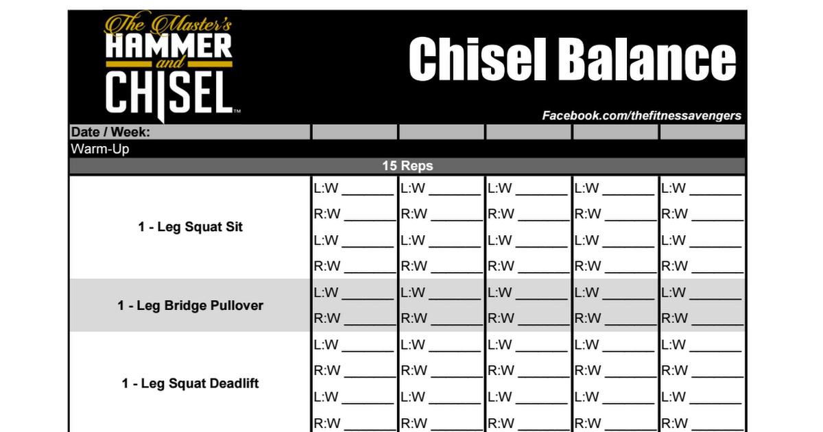 Hammer Chisel Worksheets Pdf Hot Mom Workouts