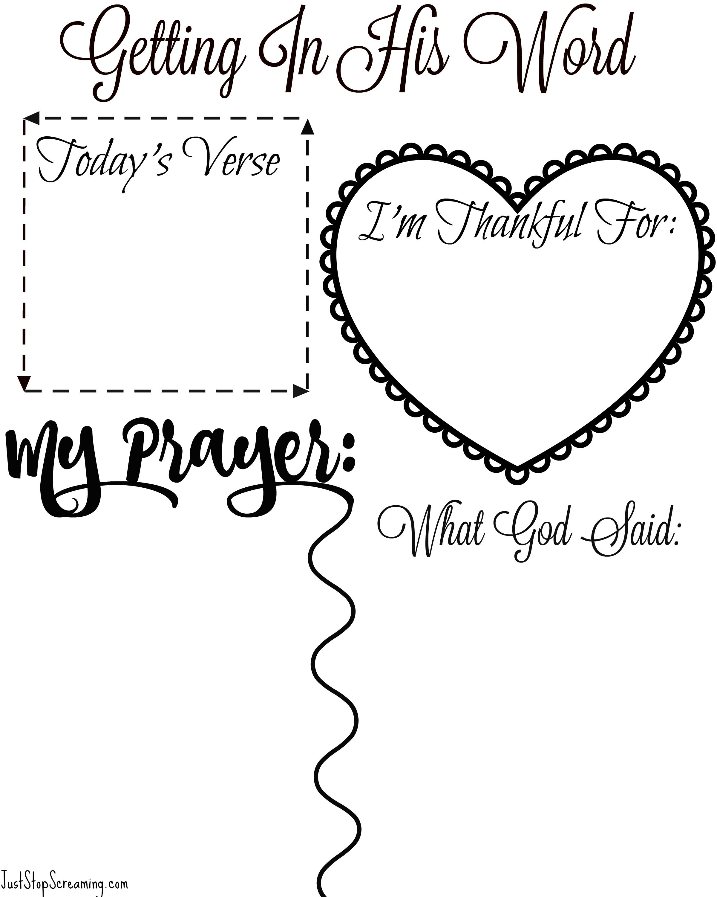 Free Bible Study Printable For Adults and Kids (With