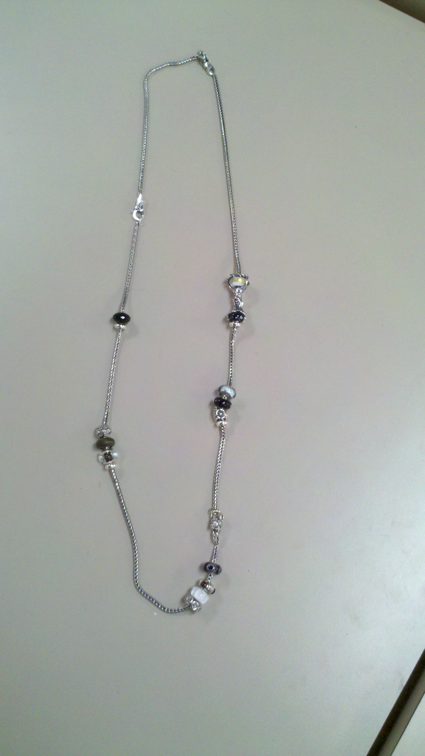 This is 2 trollbeads necklaces, a bracelet, and several clasps with some beads. Wear as a long necklace--this is a necklace that is on display at Vale Edge Florist (www.vale-edge.com)