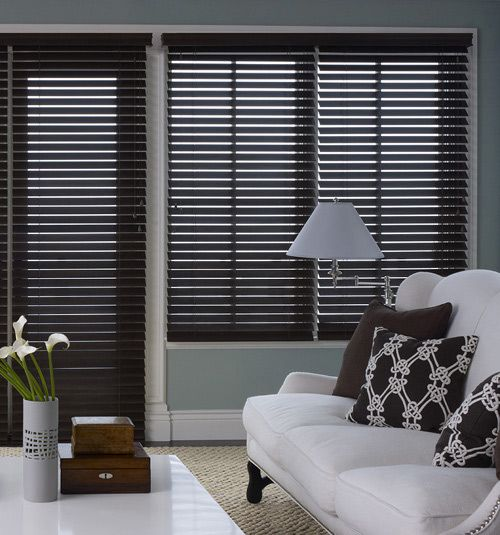Premium Wood Blinds 2 3 8 Quot Slats Living Room Blinds