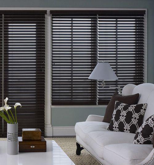 Premium Wood Blinds 2 3 8 Quot Slats Living Room Blinds