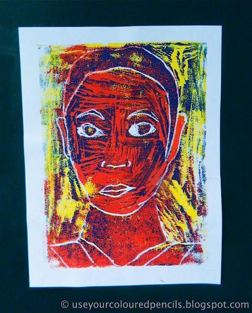 Use Your Coloured Pencils Self Portrait Foam Reduction Prints
