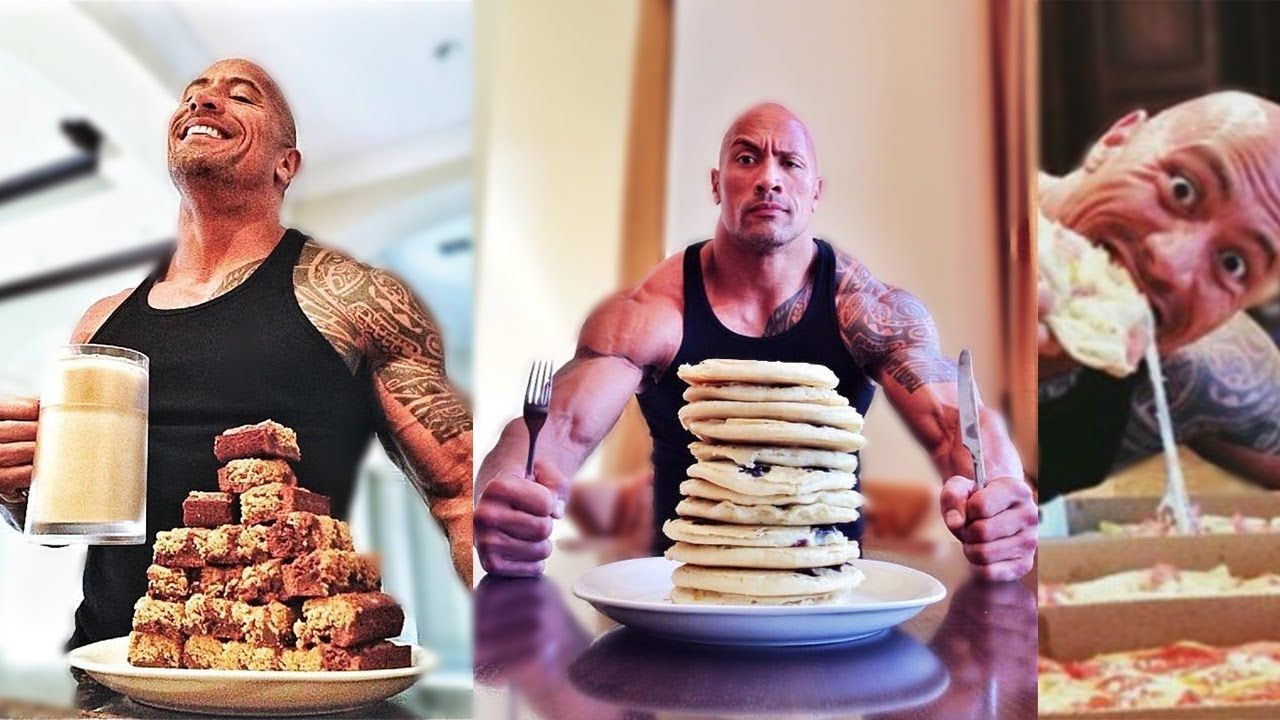 Dwayne the rock johnson eating diet for movie roles