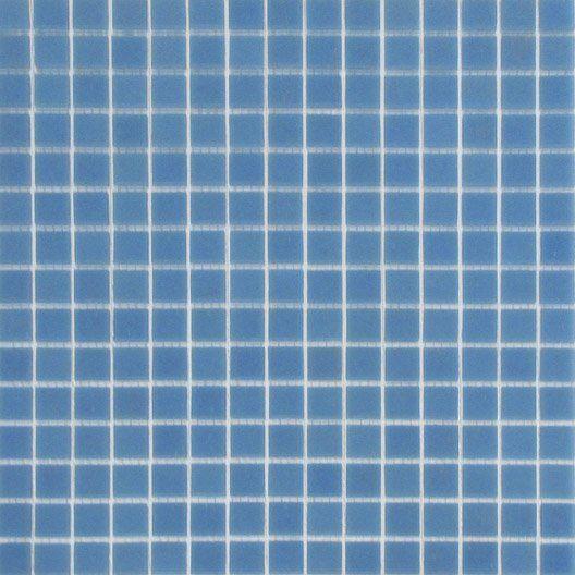 Mosaique Murale En Pate De Verre Mosalisse Bleu Marine 32 8x32 8cm Parement Mural Mosaique Bleu Marine