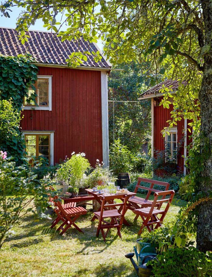 Keltainen talo rannalla kes koteja tolle h user - Skandinavisches gartenhaus ...
