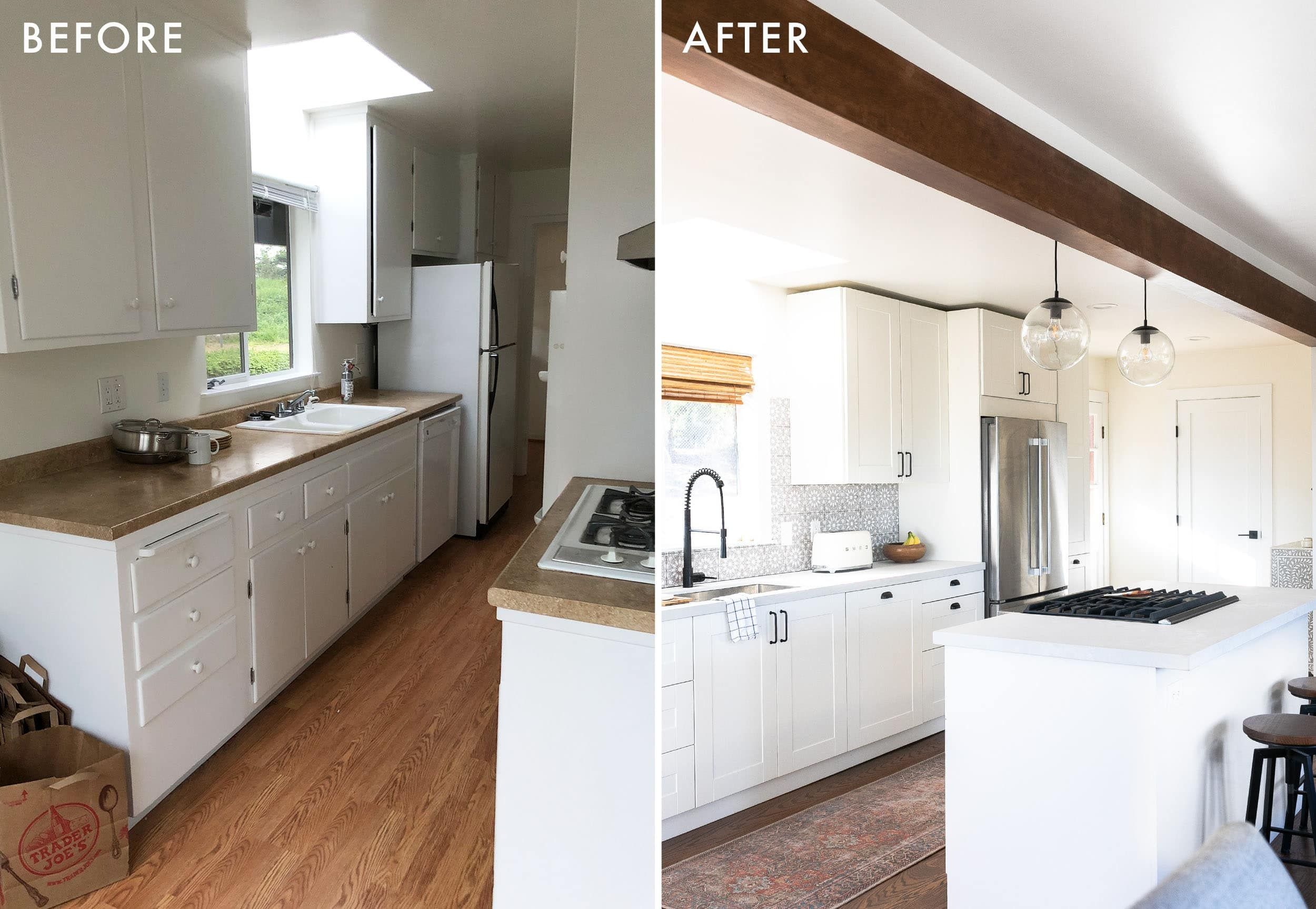 Are Ikea Kitchen Cabinets Worth The Savings A Very Honest Review One Year Later Emily Henderson Ikea Kitchen Cabinets Ikea Kitchen Countertops Ikea Kitchen