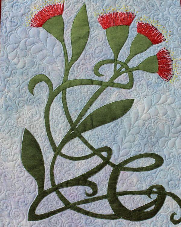Art Nouveau quilt by Linda Steele   Flower quilts   Pinterest ... : art nouveau quilts - Adamdwight.com