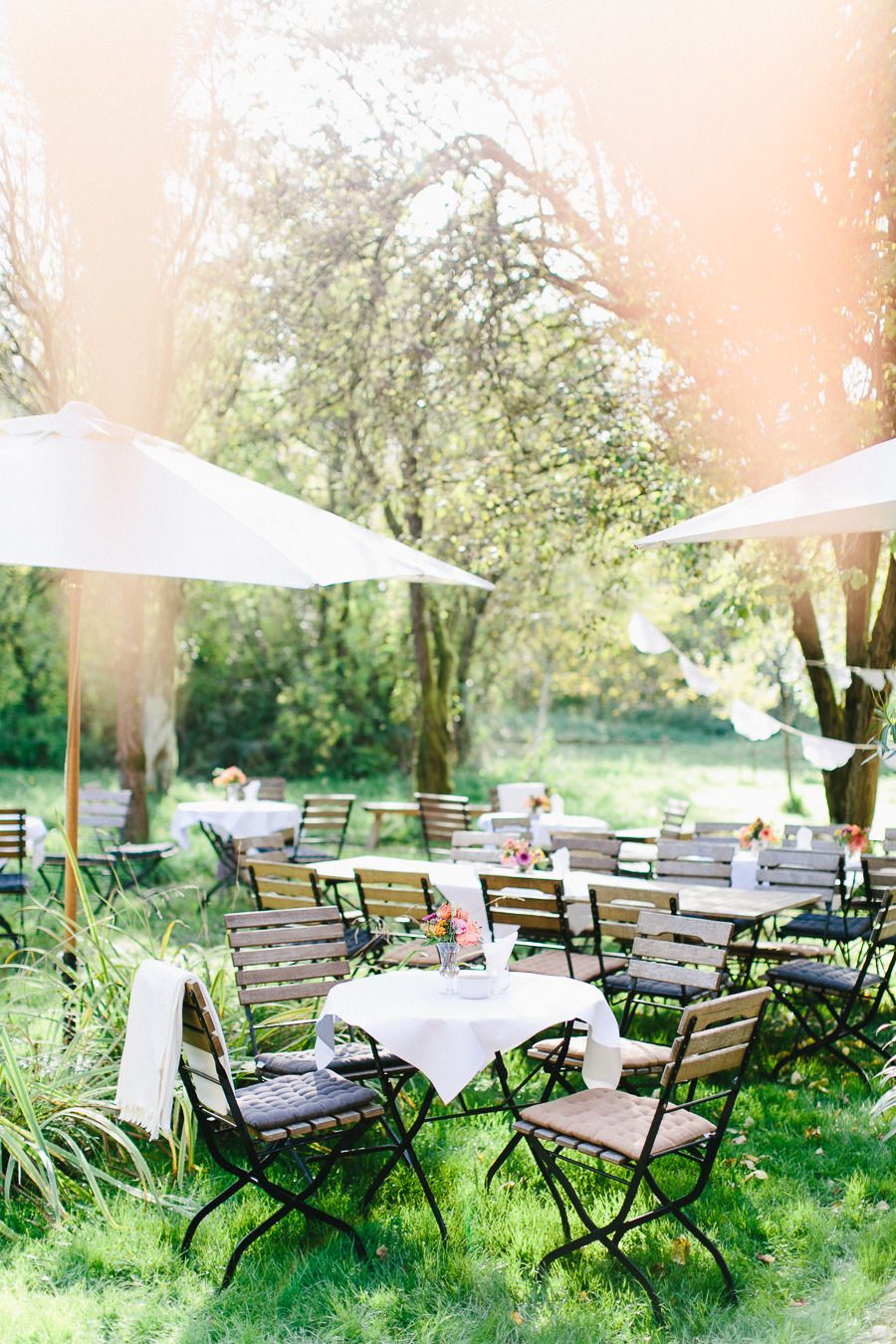 Colorful Fall Germany Wedding At Gut Sonnenhausen Outdoor Wedding Seating Wedding Reception Seating Outdoor Wedding Reception