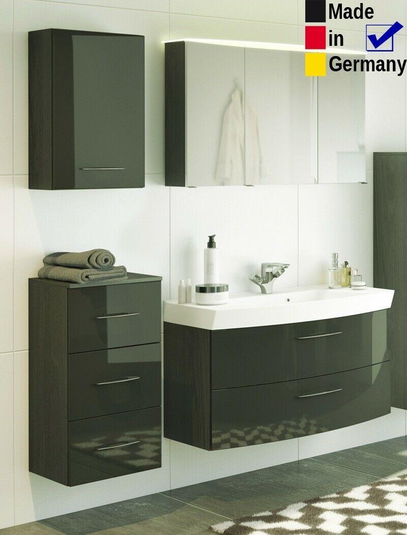 Badezimmer Fiona 57 Hochglanz Grau 4 Teilig Waschtisch 3d Spiegelschrank Led Ebay In 2020 Spiegelschrank Led Spiegelschrank Badezimmer Mobel
