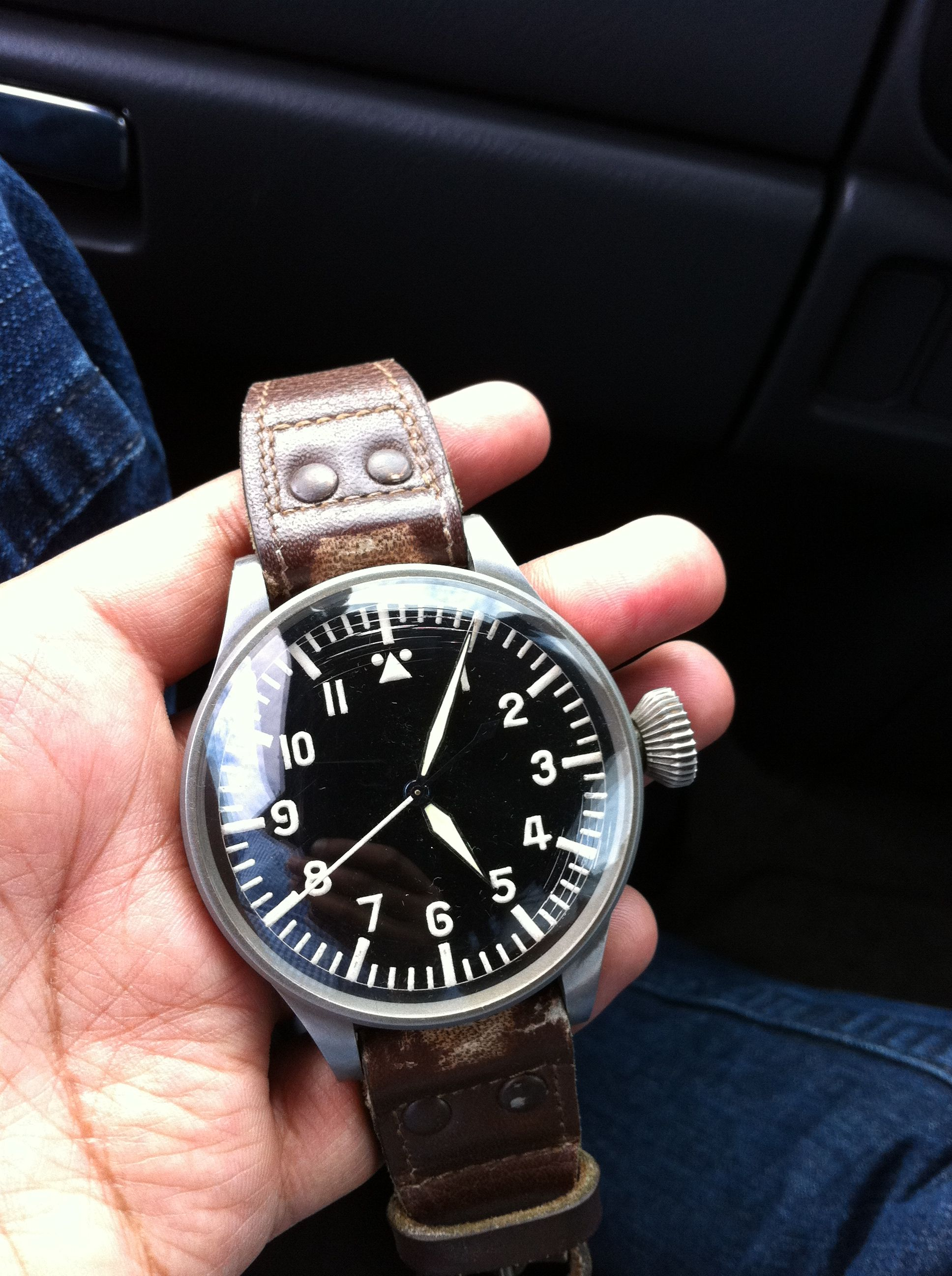 a878698f6a 1940 s IWC German Luftwaffe IWC pilots wristwatch.