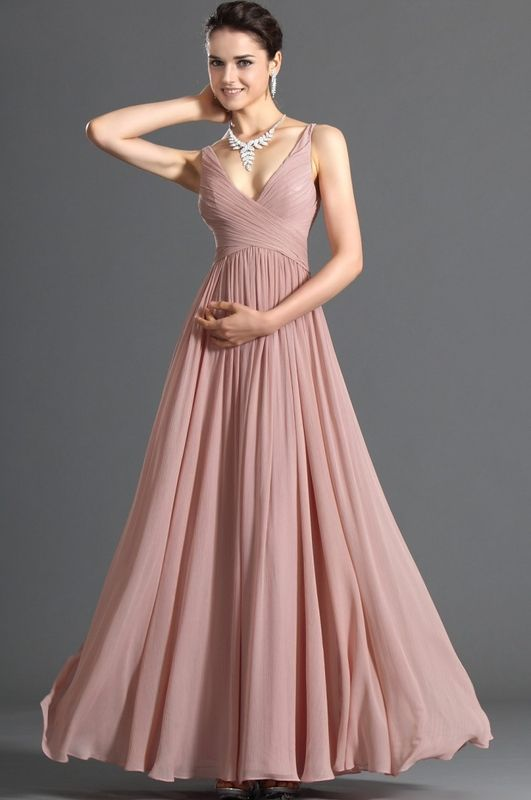 Pretty+A-Line+Floor-Length+Zipper+Up+Spaghetti+Neckline+Prom/Event+ ...