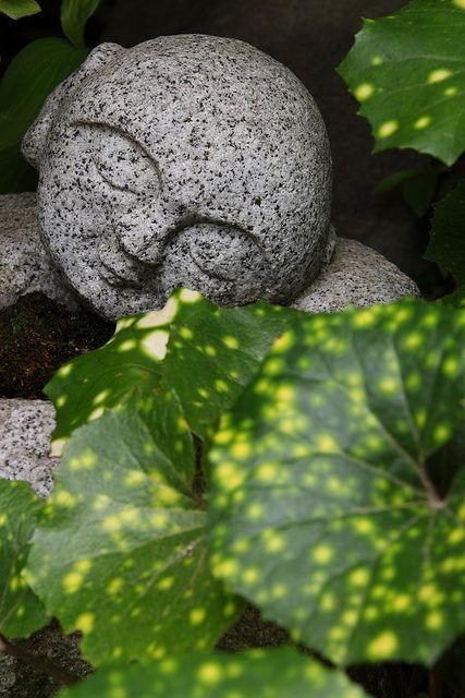 JIZO Statue Beaux jardins, Bouddha et Extérieur - Pose Beton Cellulaire Exterieur