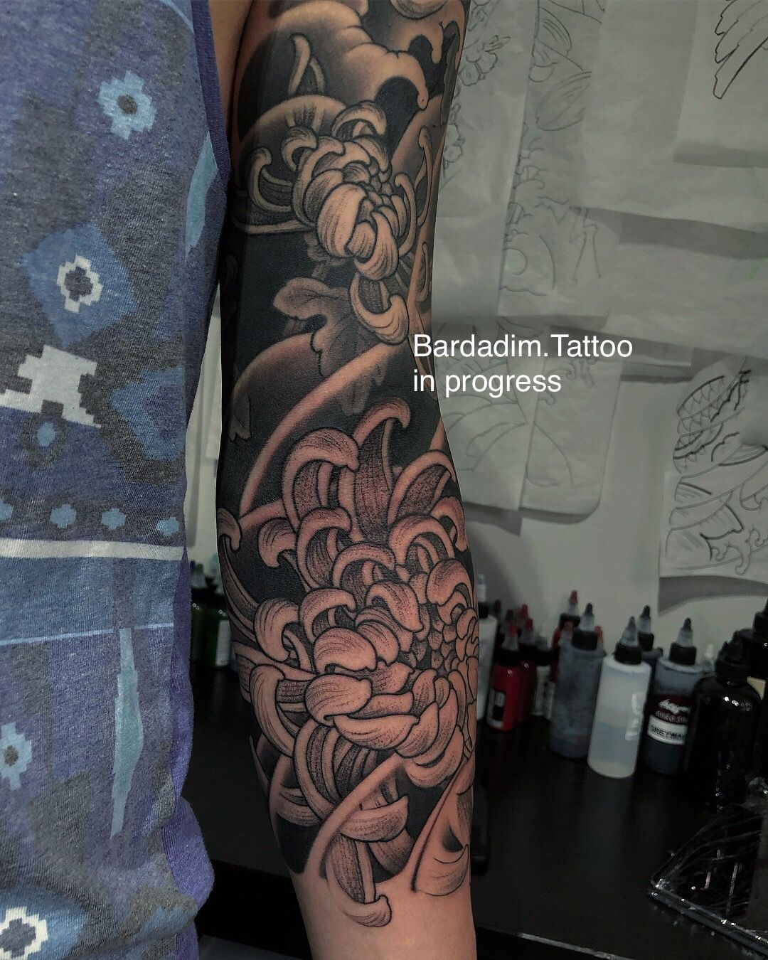 Japanese Tattoo Full Sleeve Tattoo Chrysanthemum Japanese Sleeve Japanese Sleeve Tattoos Japanese Sleeve Japanese Tattoo