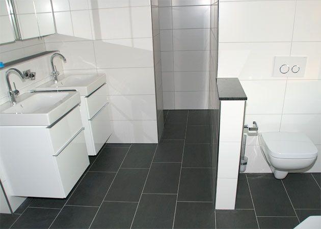 Bad Fliesen Anthrazit Weis Magnificent Design Badezimmer ...