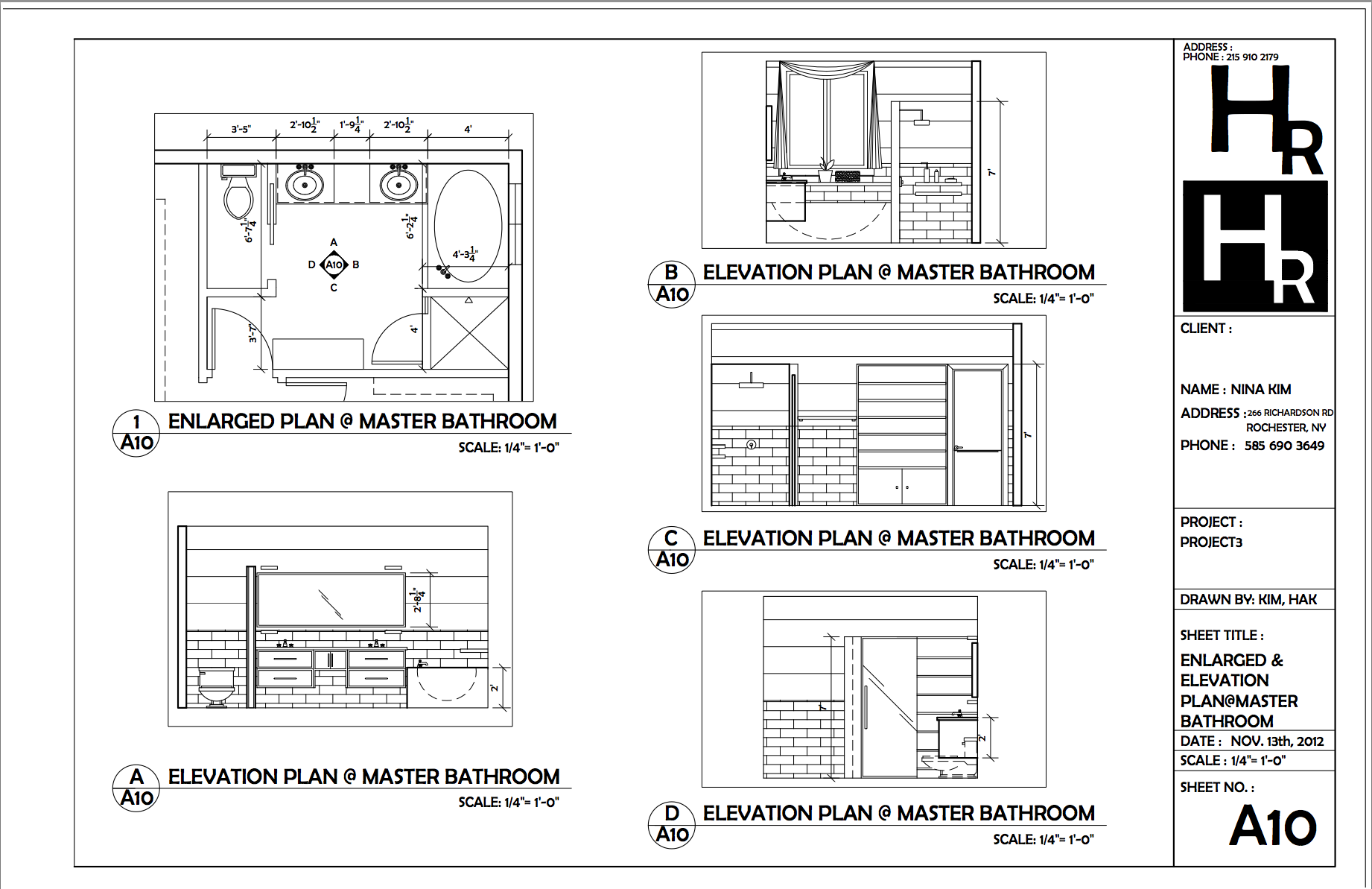 Elevation Plan In Autocad : Bathrm enlarged and elevation plan portfolio autocad