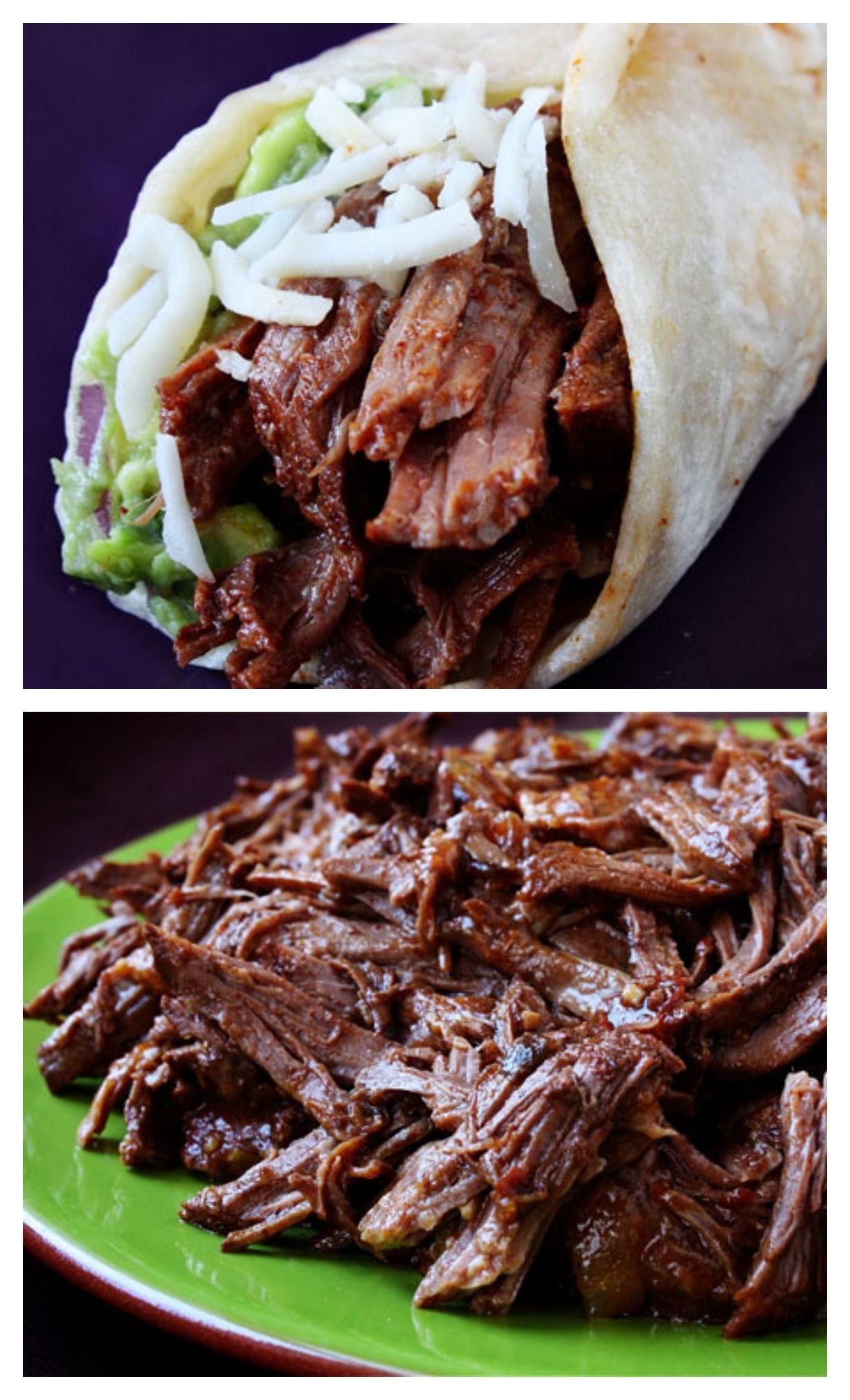 Slow-Cooker Shredded Beef Tacos Recipe   Gimme Som